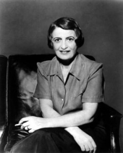 Ayn Rand. She is what I consider to be the false prophet of libertarianism. She is widely known to be the mother of modern day libertarianism. Kenites sure have a way of dividing Christians. Click on the pic to learn more about her.